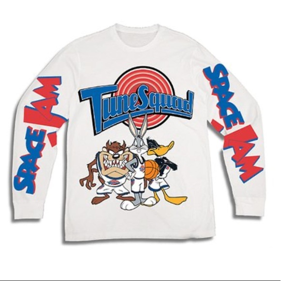 Space Jam Shirts Tops Space Jam Tune Squad Long Sleeve Youth Large Poshmark